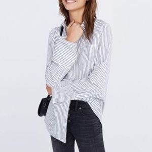MADEWELL Bristol oversized striped shirt